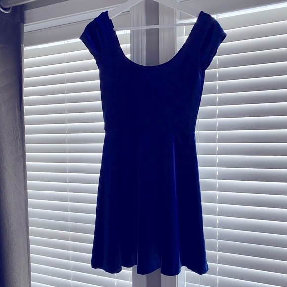 Garage Blue Velvet Dress
